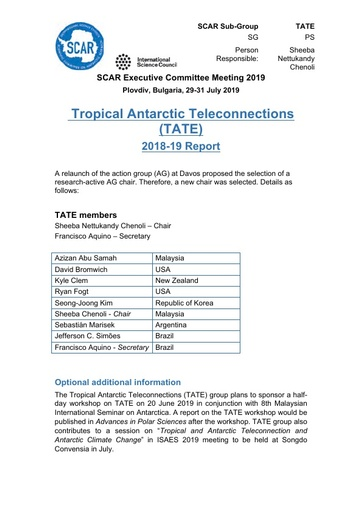 TATE Action Group Report 2019