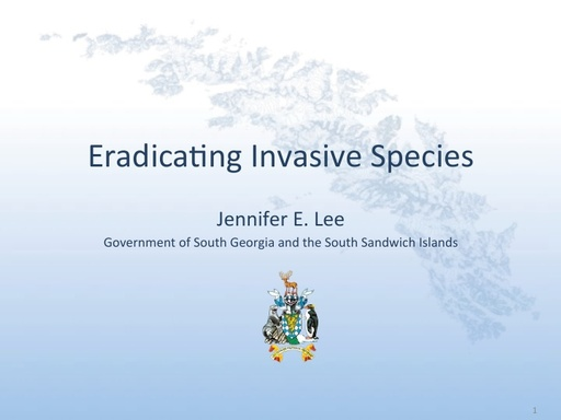Eradicating Invasive Species - Jennifer Lee