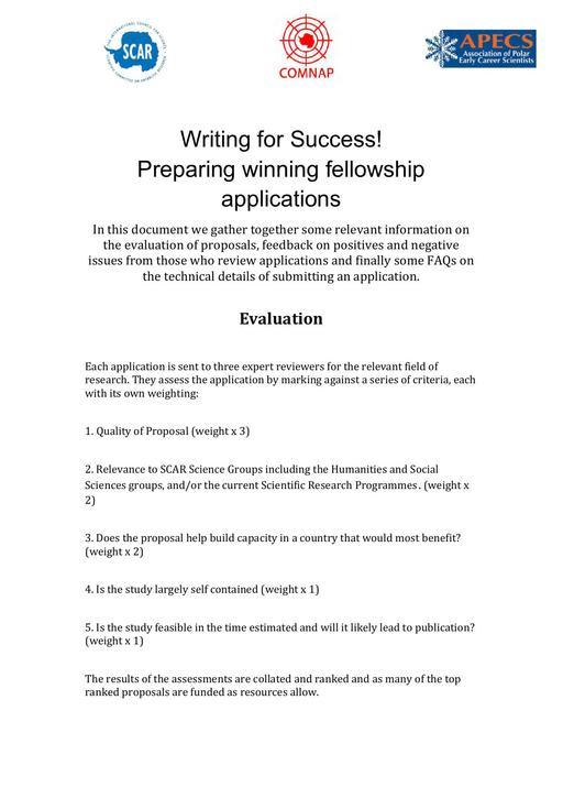 Guide to Preparing Winning Fellowship Applications