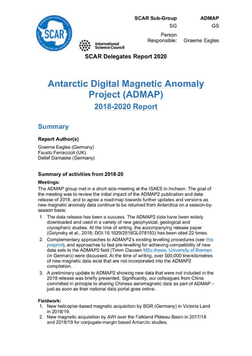 ADMAP Expert Group Report 2020