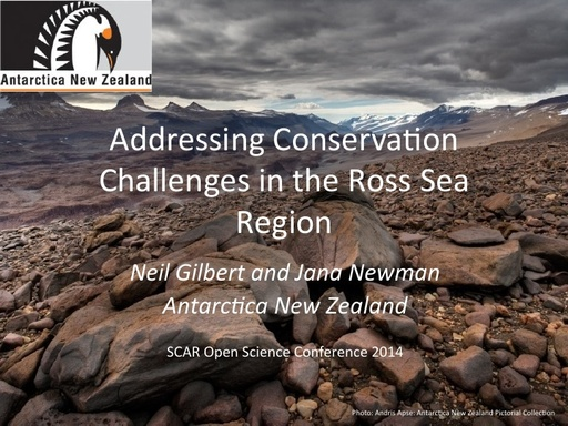 Conservation Challenges in the Ross Sea Region - Neil Gilbert