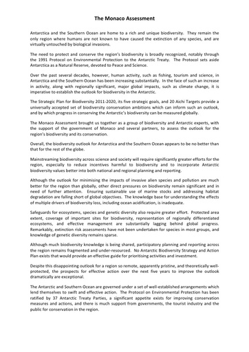 Monaco Assessment Document 2015
