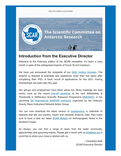 SCAR Newsletter February 2021
