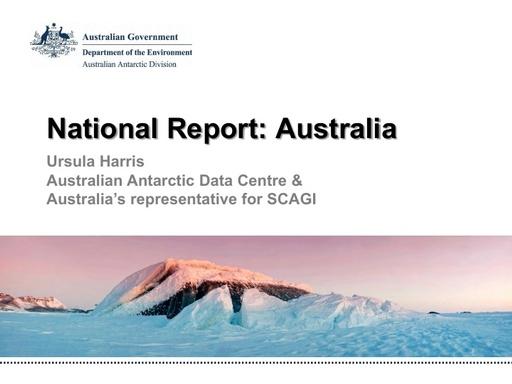 National Report to SCAGI from Australia, June 2015