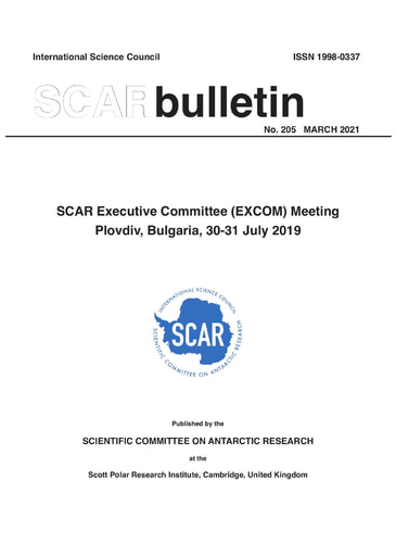 SCAR Bulletin 205 - 2021 March - Report of the SCAR Executive Committee Meeting 2019