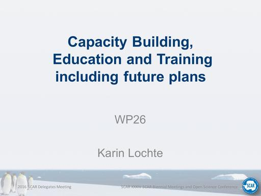 Agenda Item 8.4: Capacity Building, Education and Training including Future Plans