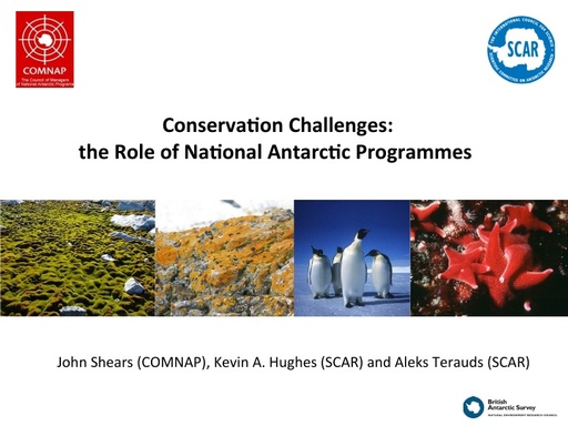 The Role of National Antarctic Programmes - Michelle Rogan-Finnemore