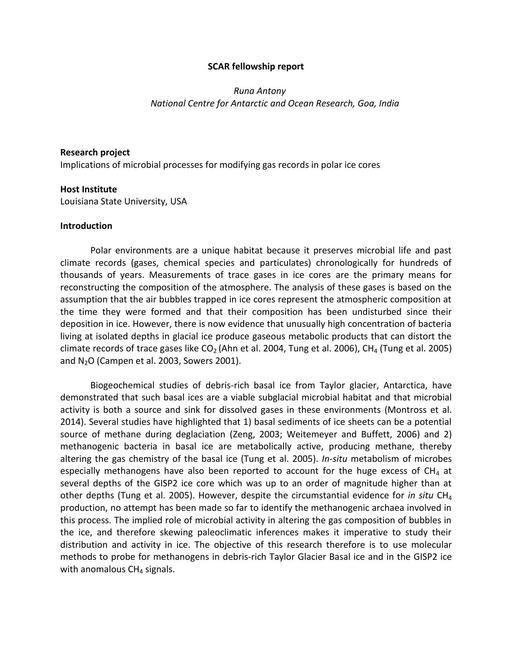 Antony 2011 Fellowship Report