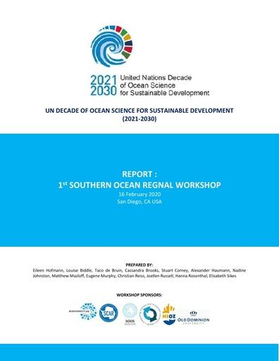 UN Ocean Decade 1st Southern Ocean workshop report