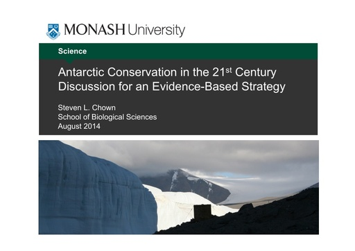Antarctic Conservation in the 21st Century - Steven Chown