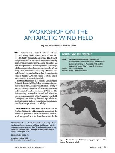 Antarctic Wind Field Workshop 2006