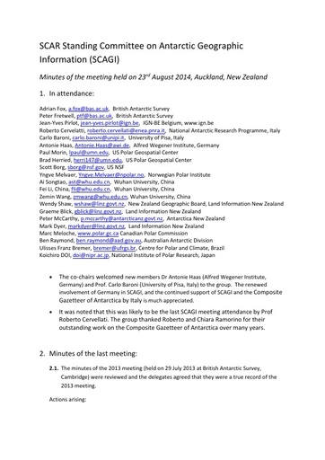 Minutes of the 2014 meeting of SCAGI