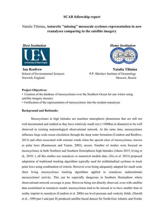 Tilinina 2011 Fellowship Report