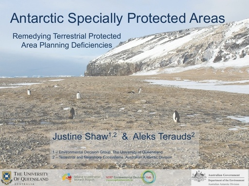 Terrestrial Protected Area Deficiencies - Justine Shaw and Aleks Terauds