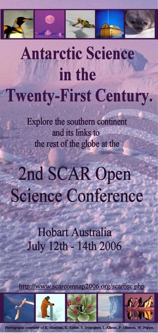 SCAR Open Science Conference 2006 - Flyer