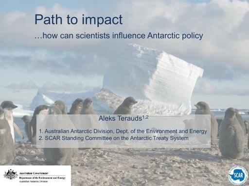 Aleks Terauds' presentation on Path to Impact