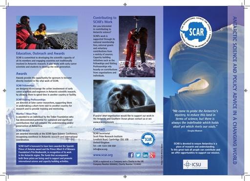 SCAR Leaflet 2014
