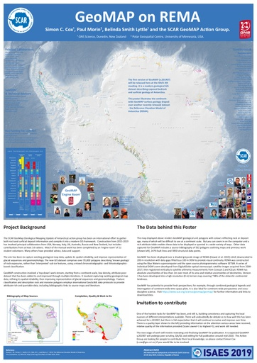 2019 Poster of the GeoMAP dataset overlaying the REMA dataset