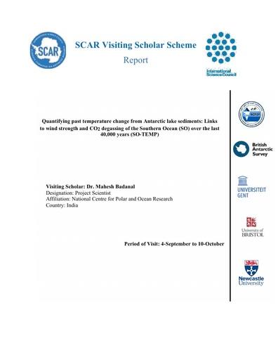 Mahesh Badanal - 2018 Visiting Professor Report