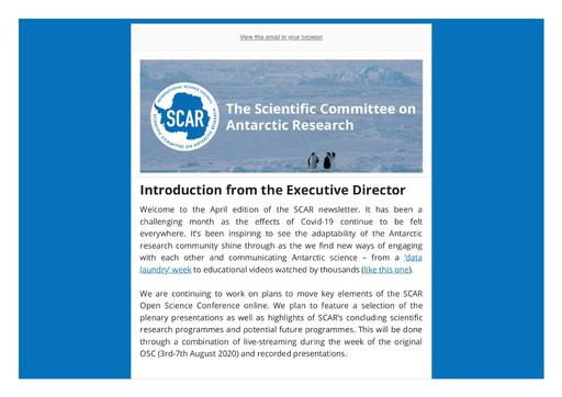 SCAR Newsletter April 2020