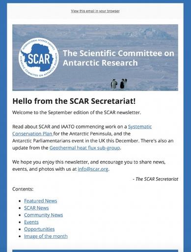 SCAR Newsletter September 2019