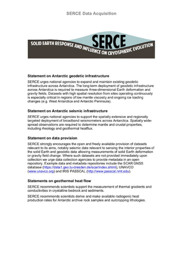 Data Acquisition Statements from SERCE
