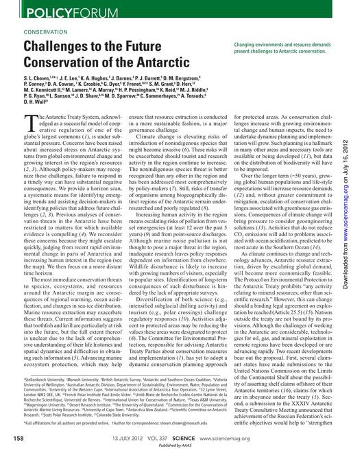 SCAR EXCOM 2013 IP07: Antarctic Conservation for the 21st Century – A Comprehensive Strategy: Appendix 1