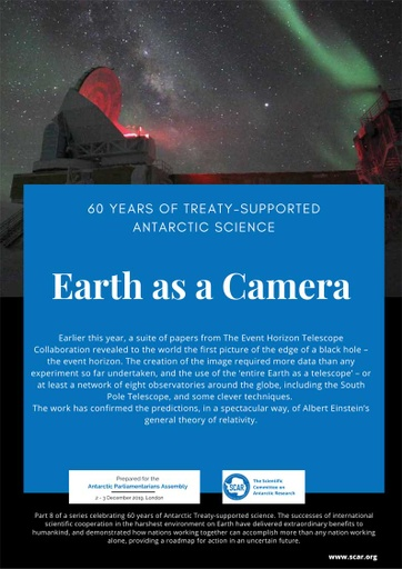 60 Years of Treaty-Supported Antarctic Science - Earth as a Camera