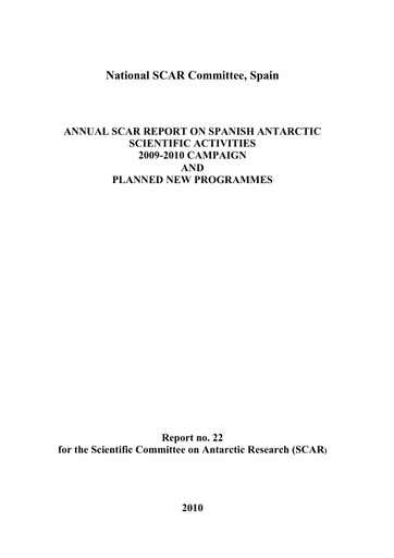 Spain National Report 2009-10