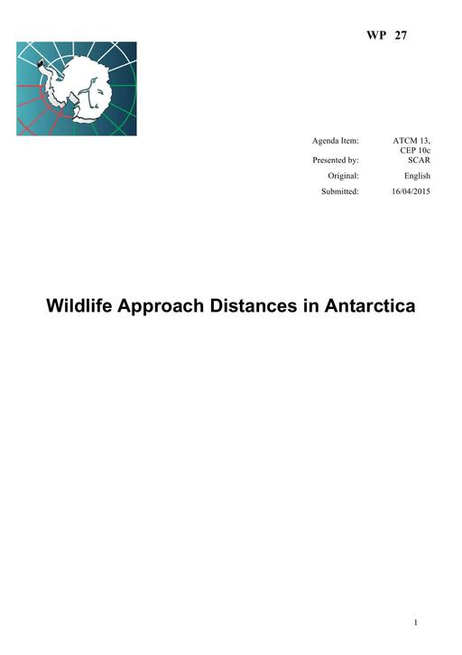 WP027: Wildlife Approach Distances in Antarctica