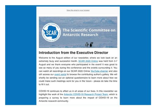 SCAR Newsletter August 2020