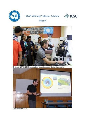 Xavier Crosta - 2018 Visiting Professor Report