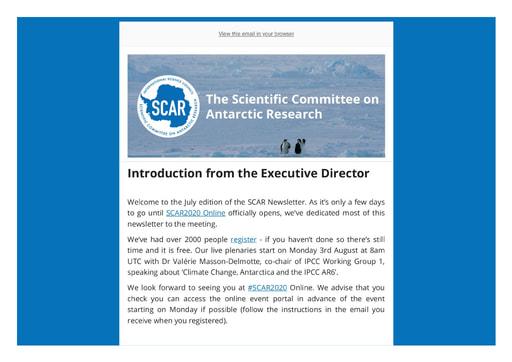 SCAR Newsletter July 2020