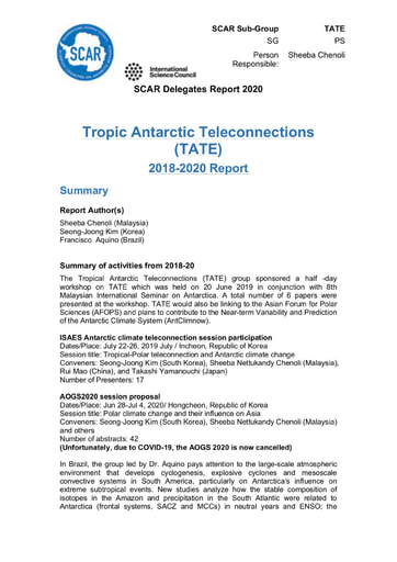 TATE Action Group Report 2020