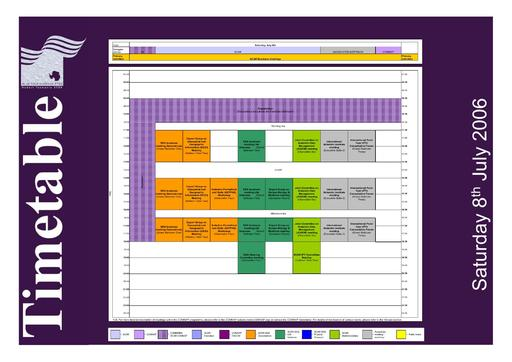 SCAR Open Science Conference 2006 - Timetable