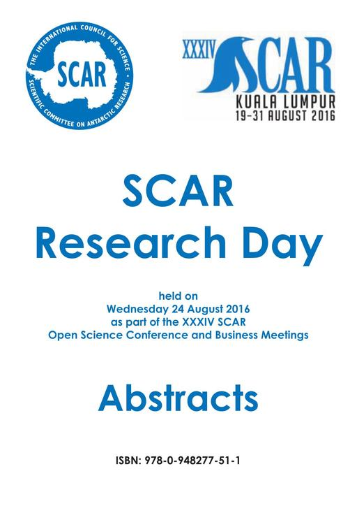 SCAR Research Day 2016 - Abstracts