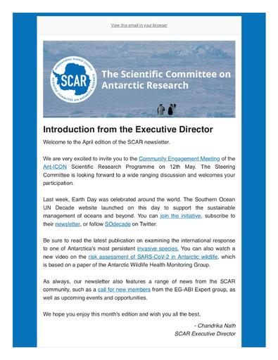 SCAR Newsletter April 2021