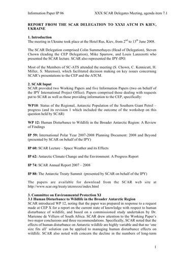 SCAR XXX IP06: Report of the Standing Committee on ATS (XXXI ATCM)