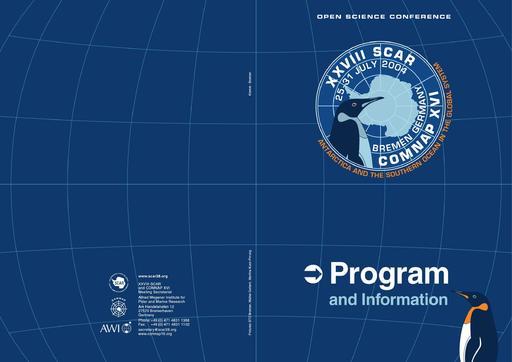 SCAR Open Science Conference 2004 - Main Program