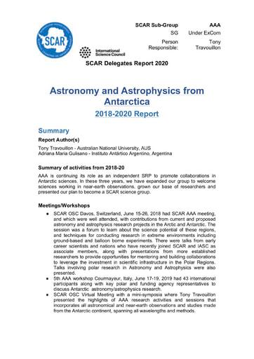 AAA Expert Group Report 2020