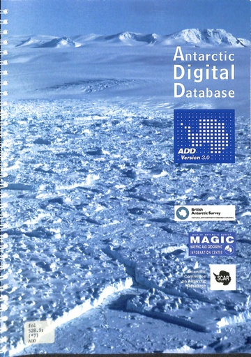Antarctic Digital Database Manual, version 3.0
