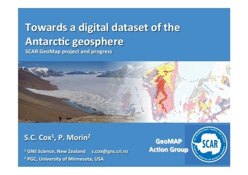 SCAR GeoMap Powerpoint presentation