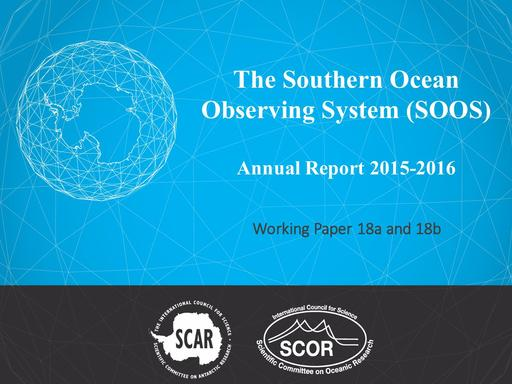 Agenda Item 4.3.3: The Southern Ocean Observing System (SOOS), with External Review