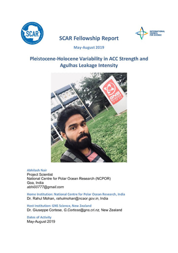 Abhilash Nair Fellowship 2019 Report