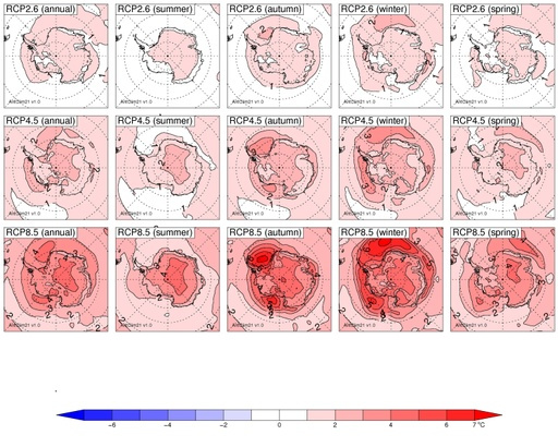 Map of CMIP5 Antarctic near-surface temperature projections to 2100 (v1.0)