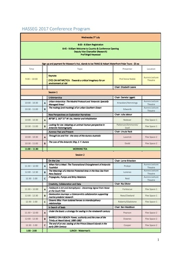 2017 HASS Conference Schedule