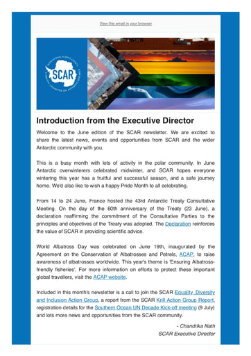 SCAR Newsletter June 2021