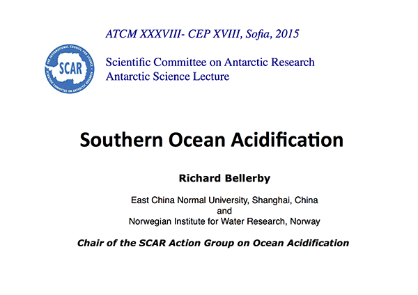 SCAR Lecture 2015: Southern Ocean Acidification
