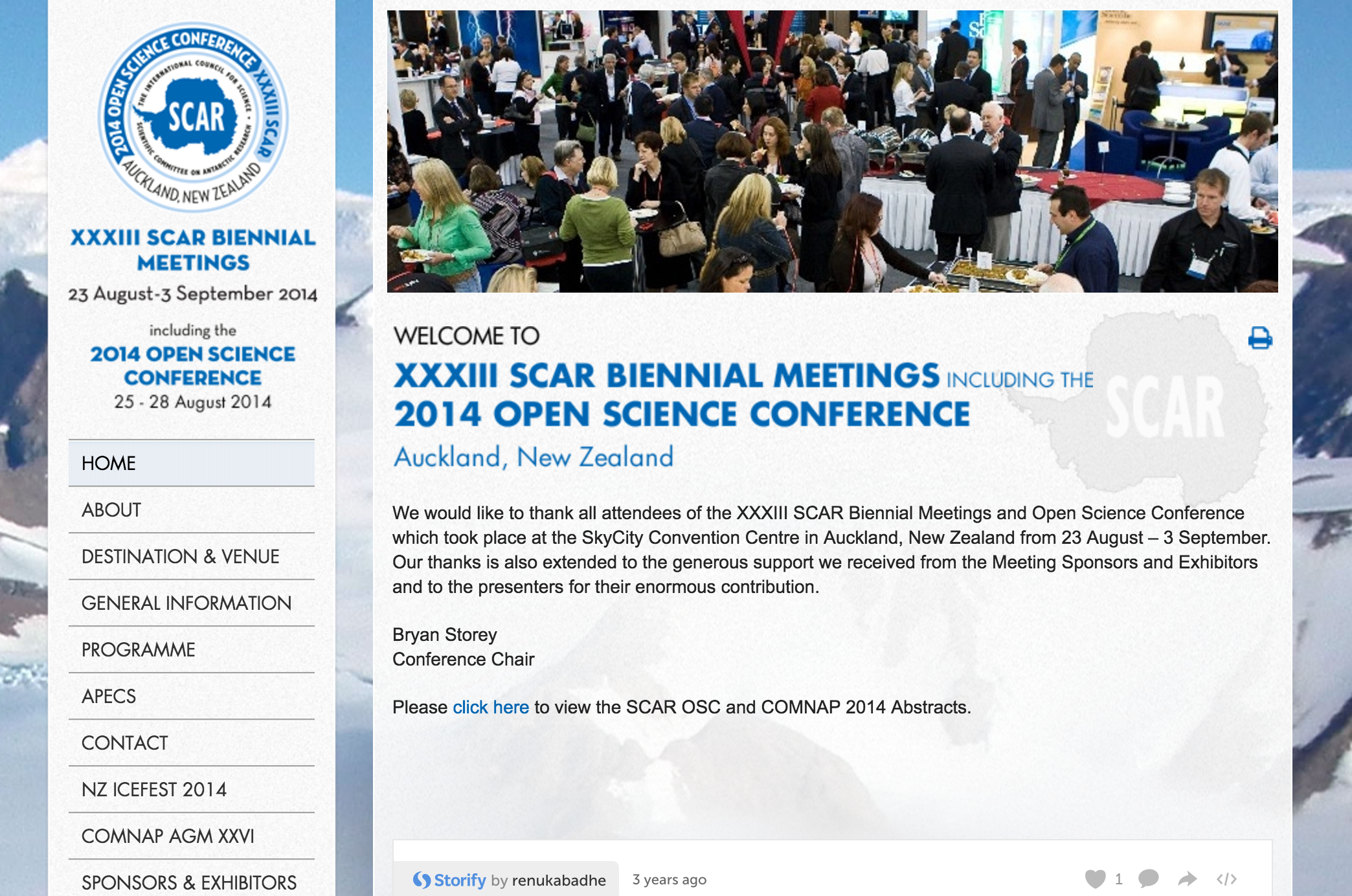 SCAR Open Science Conference 2014 - Website (archived)