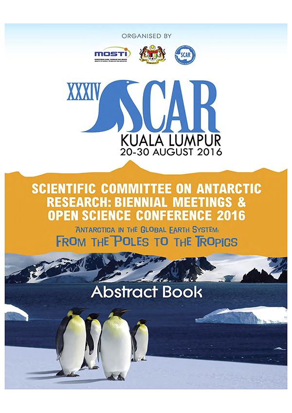 SCAR Open Science Conference 2016 - Abstracts